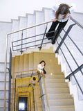 2楼梯 库存图片