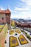 2横向洛桑老瑞士城镇 免版税库存照片