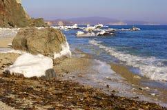 2横向海运冬天 库存图片