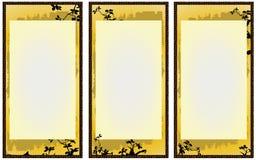 2横幅简单的日本 库存照片