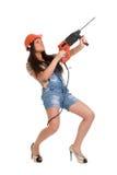 2次查询锤子藏品妇女 免版税图库摄影