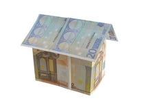 2欧元房子货币 免版税库存图片