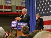 2比尔・克林顿・希拉里・俄亥俄 库存照片