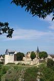 2法国中世纪村庄 库存照片