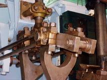 2活塞杆蒸汽 库存图片
