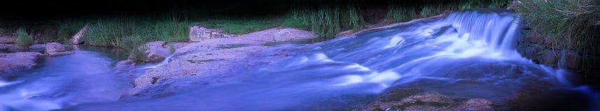 2流的全景河 库存照片