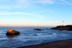 2海湾比亚利兹 库存照片