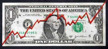 2涨潮市场股票 库存图片