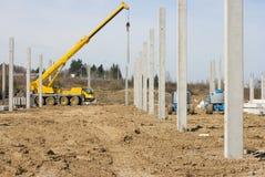 2混凝土建筑柱子 免版税图库摄影