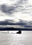 2滑雪的水 免版税库存图片
