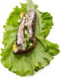 2爱沙尼亚语国家三明治 免版税库存照片
