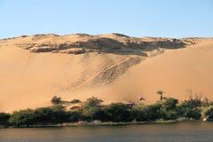 2片沙漠埃及人 库存图片