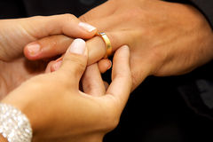 2环形婚礼 免版税图库摄影