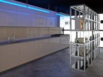 2现代亢奋的厨房 免版税库存图片