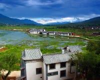 2瓷小的村庄 库存照片
