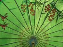 2瓷绘画伞 免版税图库摄影