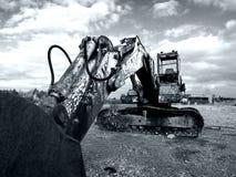 2生锈360位挖掘者的领域 图库摄影