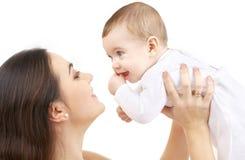 2男婴愉快的母亲 库存图片