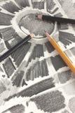 2画的石墨铅笔 免版税库存照片