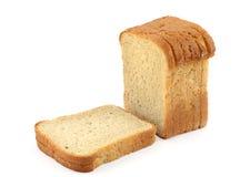 2白色的面包接近的多士 库存图片