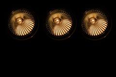 2盏卤素聚光灯 免版税库存照片