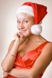 2相当圣诞节女孩 库存图片