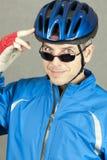 2确信的骑自行车者 免版税库存图片