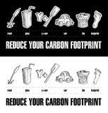 2碳脚印谜减少您 免版税库存照片