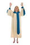 2祈祷的妇女 免版税库存照片