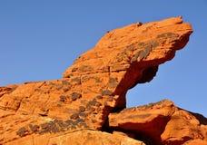 2种形成红色岩石 库存图片