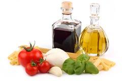 2种成份意大利人意大利面食 图库摄影