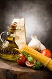 2种成份意大利人意大利面食 免版税库存照片