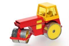 2种金属老压路机玩具 库存图片