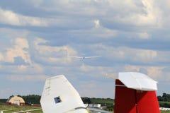 2竞争路线日最终滑翔机触地得分 库存照片