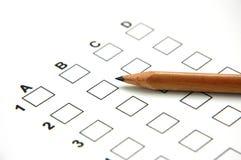 2答案纸 免版税库存照片