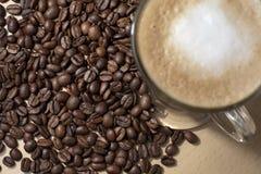 2粒豆coffe 库存照片