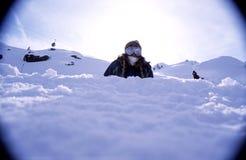 2纵向挡雪板 库存照片