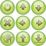 2绿色图标集 免版税库存照片