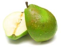 2绿色水多的梨 免版税图库摄影