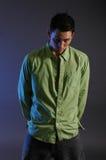 2绿色男性衬衣 图库摄影