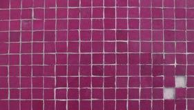 2缺少马赛克粉红色铺磁砖墙壁 免版税库存照片