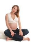 2美好的照片孕妇 库存图片