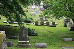 2老美丽的墓地 免版税库存照片