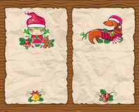 2背景圣诞节纸张 库存图片