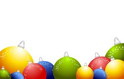 2背景圣诞节装饰品来回发光 免版税库存图片