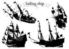2艘船向量 向量例证