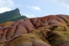 2色的地球毛里求斯七 免版税库存照片