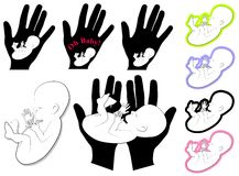 2艺术婴孩夹子胎儿婴儿徽标 库存照片