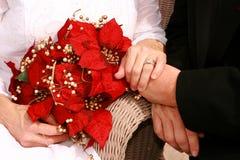 2花束新娘视图 免版税库存图片