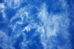 2蓝色云彩深刻的纹理 免版税库存图片